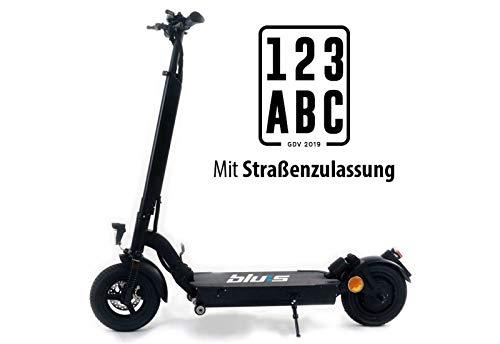 """Blu:s Stalker XT950 E-Scooter mit Straßenzulassung ABE (13 Ah / 350 Watt / 50 km / 20 km/h) inkl. 10"""" Luftreifen und Scheibenbremsen"""