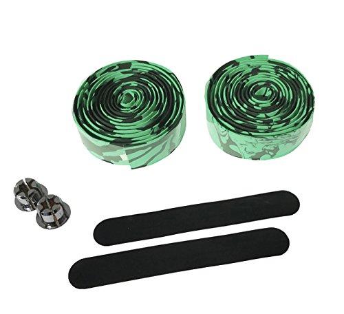 carbonenmy h?herwertig Mehrfarbe Lenkerband Bar Tape Rennrad Griffe Kork (Schwarz-Gr¨¹n)