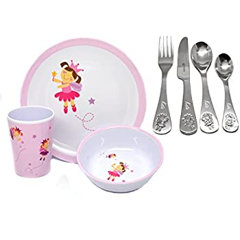 Personalised Childrens 7 pc Fairy Cutlery and Melamine Dinnerware Set Engraved  sc 1 st  Amazon UK & Personalised Childrens 7 pc Fairy Cutlery and Melamine Dinnerware ...