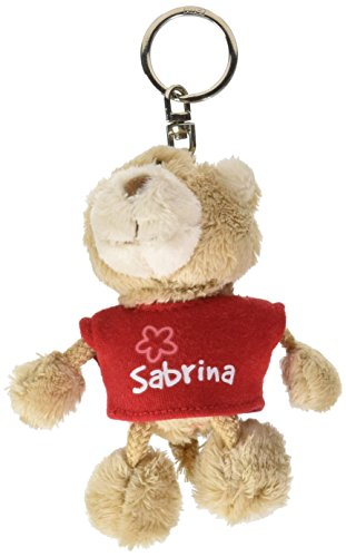 NICI n15838-Llavero Oso con Camiseta Sabrina, Rojo