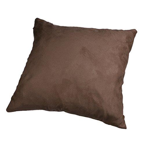 Copricuscino Divano, Longra Cuscino Moda pelo della pelle scamosciata Caffè