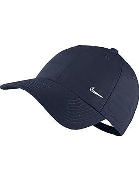 Nike Metal Swoosh Cap - Gorra para hombre, talla única, color azul/plateado