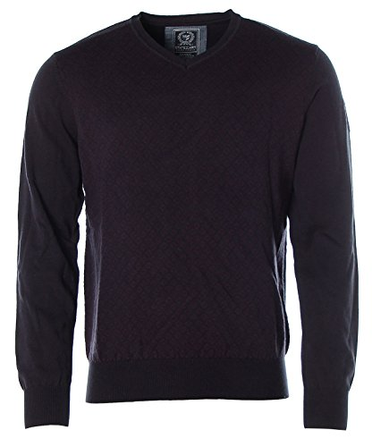 State of Art Herren Pullover Strick V-Ausschnitt Rauten Regular Fit L Purple/Navy L