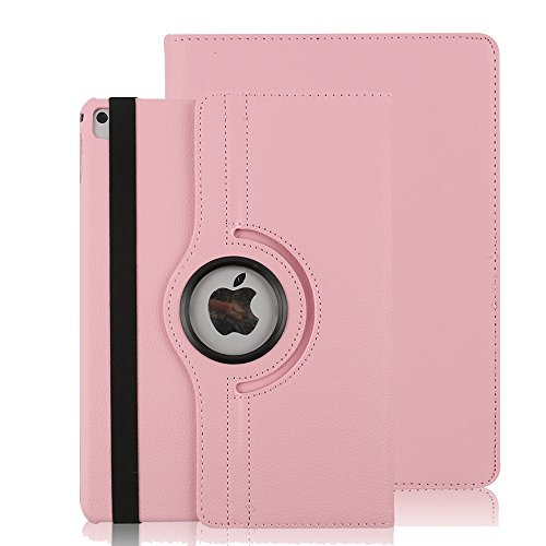 iPad 2018 / 2017 9,7 Hülle, Avril Tian 360 Grad Drehbar Schutzhülle with Auto Sleep / Wake Function Stand Smart Case Cover für Apple Neues iPad 9.7 2018 Model and 2017 9.7 Zoll Tablette,Rosa