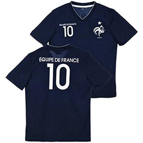 Uefa Euro 2016-Camiseta de fútbol de Francia para niño oficial de 2016, 4, 6, 8, 10, 12 y 14