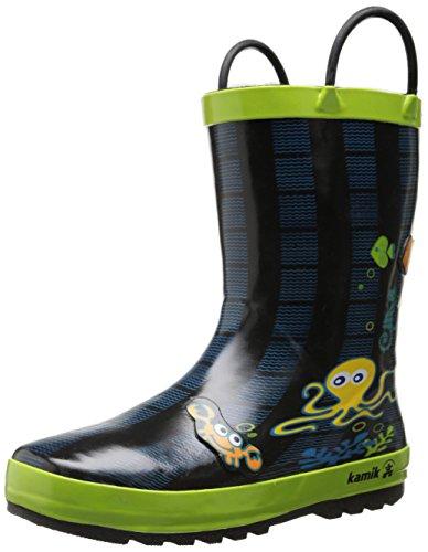 Kamik octopus eK6358 bottes en caoutchouc Noir - Citron vert