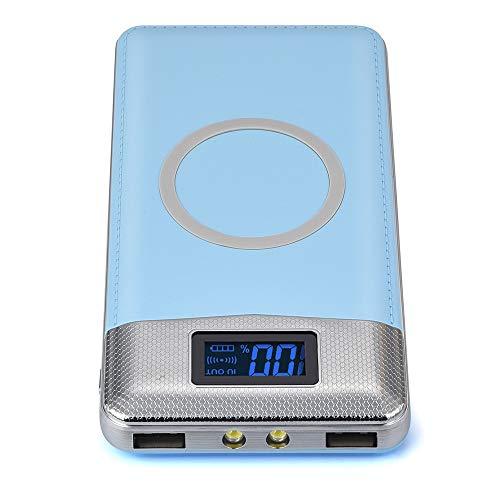 Sony Ericsson Dock (Wokee Powerbank 10000mAh,Dual USB Ports Externer,mit LED-Statusanzeige Ladegeräten,Kompatibel mit iPhone, iPad, Samsung Galaxy und Weitere Smartphones (Blau))