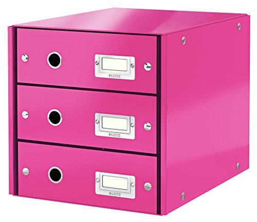 Leitz, Schubladenbox, Pink, 3 Schubladen, A4, Click & Store, 60480023