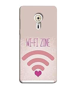 PrintVisa Designer Back Case Cover for Lenovo ZUK Z2 Pro (Pink Wifi Zone Design Searching For Love)