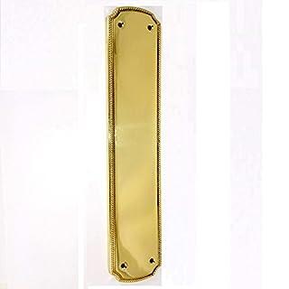 Solid Brass Regency Door Finger Plate Superb Quality Classic Edwardian Style 300x62mm by Euroart