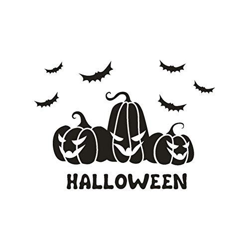 LLDSFADS Wandaufkleber Happy Halloween Bat Wandaufkleber Fenster Dekoration Aufkleber Dekor DIY Hauptdekorationen Scary Pumpkin Black Bat Wandaufkleber (Scary Zu Halloween-spiele Zu Spielen Hause)