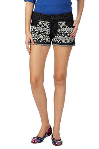 People Women's Regular Fit Shorts_ P20402174735100_28_ Black