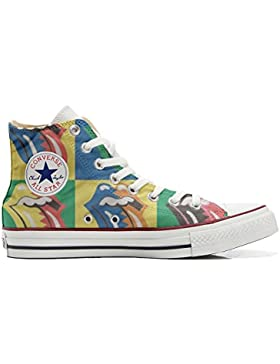 Converse All Star zapatos personalizadas Unisex (Producto Artesano) Rolling Stones
