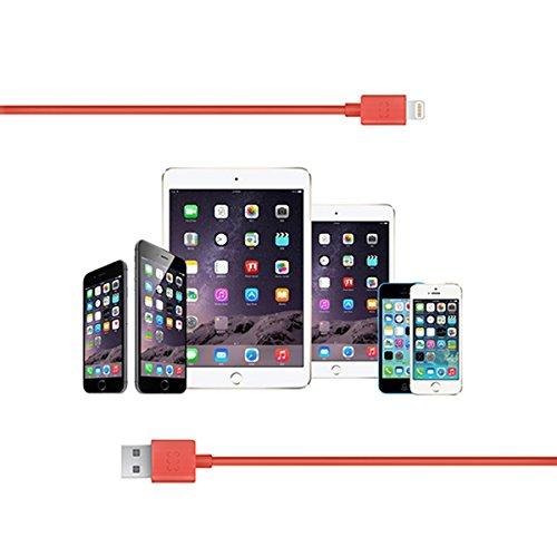Promate linkMateLT Apple certificato MFI USB per cavo di sincronizzazione e ricarica - pesca pesca