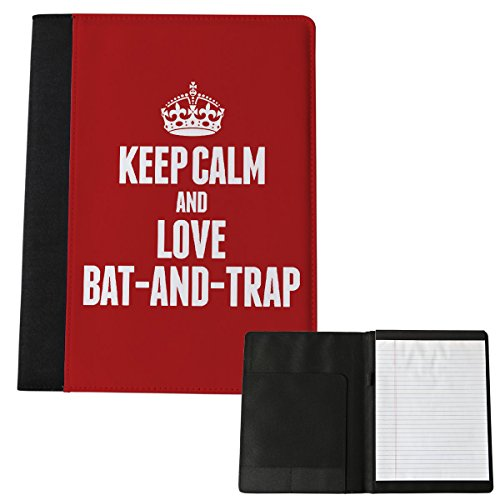 Red Keep Calm And Love Bat-And-Trap grande Notepad 1698