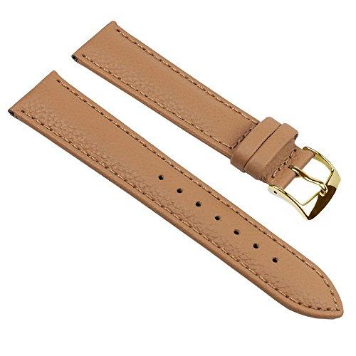 Eulit Fancy Classic Ersatzband Uhrenarmband Rindsleder Band Caramel 25463G, Stegbreite:16mm