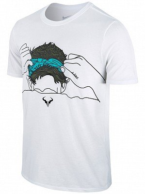 Nike Rafael Nadal 2016French Open Herren Rafa Court Premier Stirnband Tennis T-Shirt, weiß