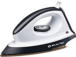Bajaj Majesty DX8 Anti-Drip Non-Stick Stainless steel Soleplate Dry Press Iron With Variable Temperature Control and Retractable Cord