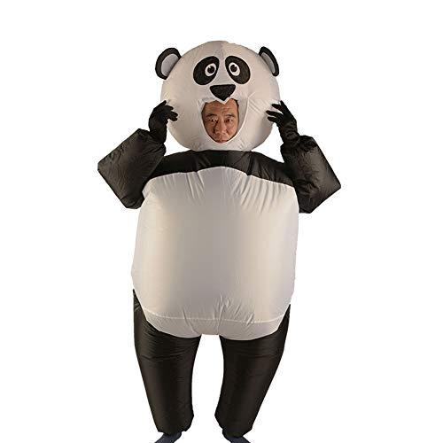 LTSWEET Riesenpanda Aufblasbare Kostüm Erwachsene Karneval Fasching Cosplay Party Outfit Halloween Fancy Dress Maskottchen (Panda Maskottchen Kostüm Für Erwachsene)