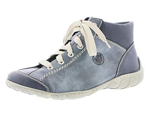 Rieker M3731 Damen Boots, Schnürstiefel, Schnür-Boots, Stiefel blau (Ozean/Ozean/Pazifik / 14), EU 38
