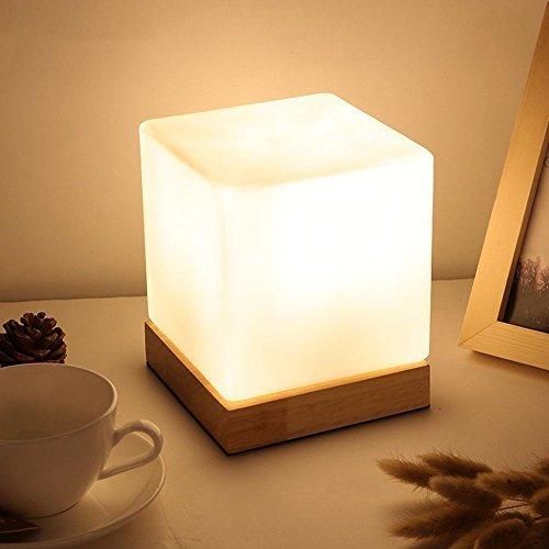 icase4u® Moderne Einfachheit Holz Nachttischlampen Table Lamp Tischlampe Decorative Lamp Schreibtischlampe (A) -