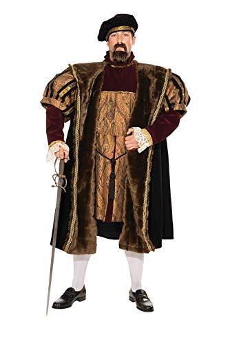 Halloween Kostuem Make-up Party Kleidung Festival Fasching Karneval Cosplay Maskerade Erwachsene Kostuem Mittelalterliche Koenig Heinrich VIII. Kostuem Erwachsene X-Large
