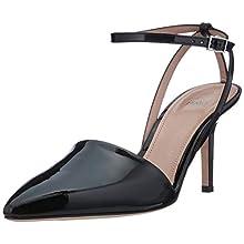 HUGO Women's Laurel Sling 70-p Ankle Strap Heels, Black (Black 1), 6 UK
