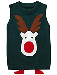 Blaward Baby Jungen Mädchen Weste Verdicken Warme Pullover Stricken Weste  Deer Muster Strickweste Baumwolle Frühling Herbst Winter… 0a0889a8d1