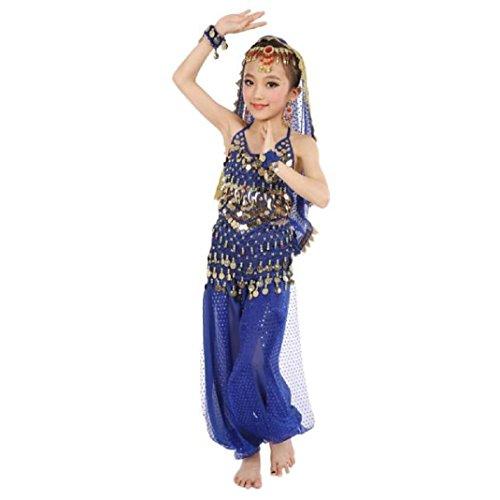 Schön Mädchen Bauchtanz Kostüme,Amcool Kinder Bauchtanz indisch Performance Kleid Kleider (S, (Kostüme Indische Kinder)