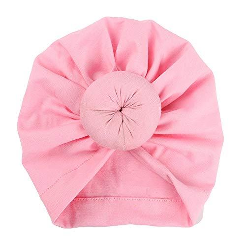LABIUO 12 Couleurs Style Indien Noeuds Bonnet Bébé, Mode Chapeau Bandeau Turban Noeud Mou Tête Wraps pour Bébé Filles Bonnet Nouveau-Né Tout-Petits pour 0-2 Ans(Rose2,Taille Unique)