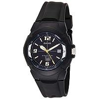 ساعة كاسيو ذات بطارية بعمر 10 سنوات وعرض انالوج للفتيان قياس واحد Black/Navy