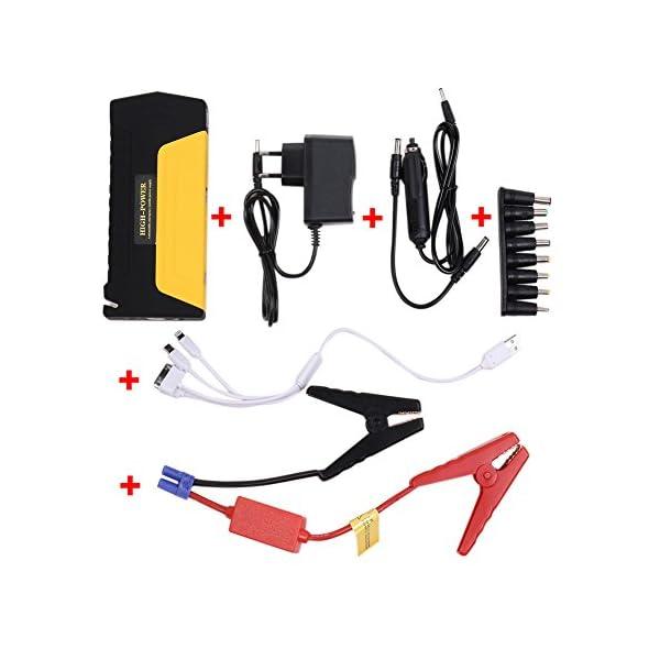 PRUGNA 10000mAh Emergencia del Arrancador de Coche con la Corriente Máxima 600A, Antorcha Incorporada del LED. Multi-Functional Movil Portátil Power Bank Vehículos Fuente de Energía de Emergencia Cargador de Batería de Automóvil.[Tienda de fábrica]
