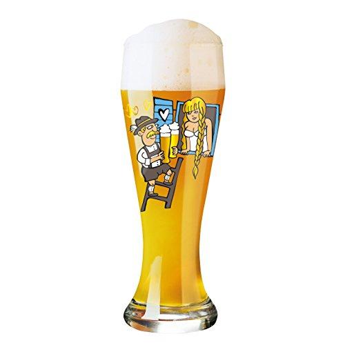 Ritzenhoff 1020198 Weizenbierglas, 8,5 x 8,5 x 23 cm, mehrfarbig
