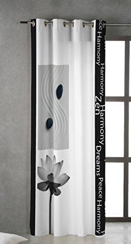 TSUKI KUKAN Cortina Ojales metálicos 150 x 260 Zen