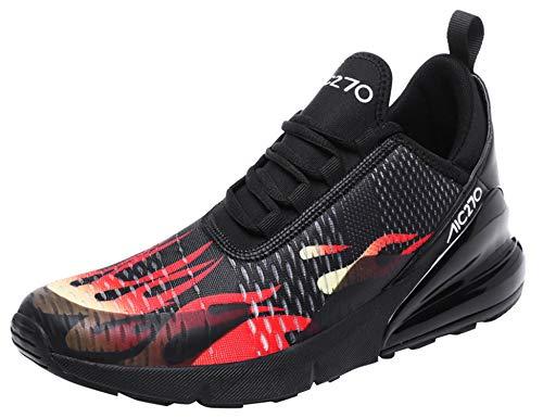GNEDIAE Uomo AIC 270 a Collo Basso Scarpe da Ginnastica Sportive Scarpe da Corsa Running Palestra Sneakers Multicolore 40 EU