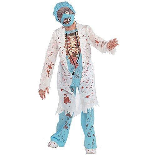 Imagen de disfraz doctor zombie para niños y adolescentes en varias tallas halloween