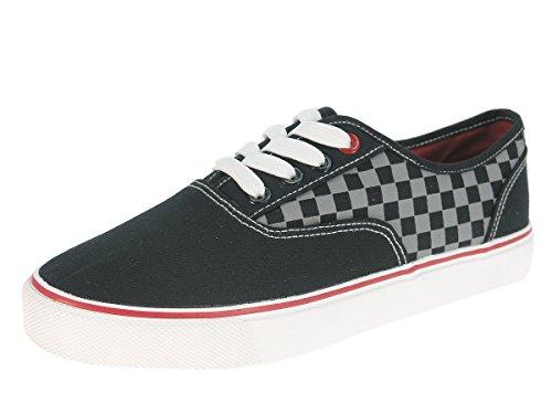 Beppi Kinder Stoffschuhe Sneaker Turnschuhe Leinenschuhe Skateschuhe Freizeitschuhe Schwarz Schwarz