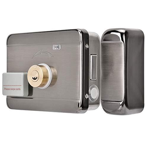 Wireless Elektroschloss Tür Zugriffskontrollsystem, DC 12V Fernbedienung Türschloss Kit mit Wireless Tür Access Control System Wireless Control Kit