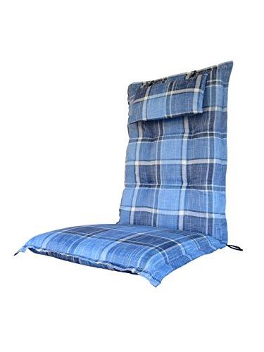 8-cm-luxus-hochlehner-auflage-mit-kopfkissen-heaven-blau-kariert-pure-home-garden-120-x-46-cm