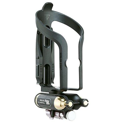 TOPEAK Ninja CO2 Plus Fahrrad Flaschenhalter Pumpe Micro Air Booster Kartusche Reifenheber Notfall, TNJ-CO2P (Ninja-pumpe)