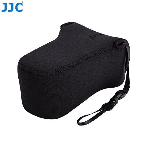 JJC oc-f3bk nero custodia in neoprene per fotocamera mirrorless Fujifilm x-t10, X-A1, x-a2, x-a3con 55–200mm o 50–230mm Lens, Olympus e-m10ii, e-m5ii con 40–150mm o 12–40mm o 75–300mm Lens (compatibile anche con altre fotocamere con obiettivo taglia fino a 127x 85x 173mm)