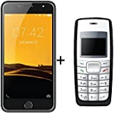 I KALL K1 5 Inch 4G Android Phone (Silver) With K72 (Black)