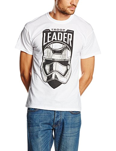 Star Wars Herren T-Shirt Gr. Large, Weiß - Weiß
