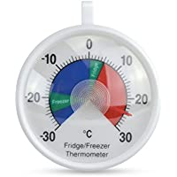 ETI Fridge and Freezer thermometer with colour-coded 70mm dial & safe temperature zones
