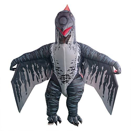 Blow Kostüm Up Besten - TeasyDay Halloween aufblasbares Spielzeug,Adult Inflatable Dinosaur Blow Up Kostüm,Cosplay Kostüm,Hochwertiges wasserdichtes Polyester,mit integrierten Überschuhen,Handschuhen,Batteriefach,Lüfter