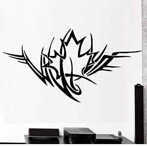 zqyjhkou Maple Leaf Symbol Wandaufkleber Steuern Dekor Sofa Hintergrund Wohnzimmer Große Vinyl Aufkleber Ornament Kreative Abnehmbare Abziehbilder S230 104x56 cm -