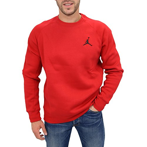 Fleece-t-shirt (Nike Flight Fleece Crew - Langärmeln T-Shirt Rot - XL - Herren)