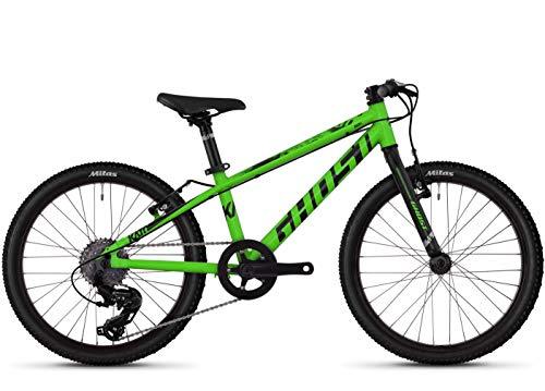 Ghost Kato R1.0 AL U 20R Kinder Mountain Bike 2019 (20 Zoll, Riot Green/Jet Black)