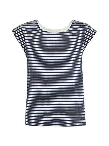 TOM TAILOR für Mädchen T-Shirts/Tops Gestreiftes T-Shirt mit Spitze Blue, 164
