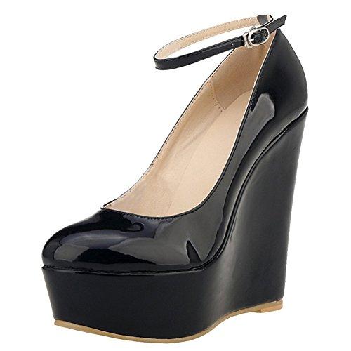 Pour Schwarzlackleder Eks Talons À Femmes Chaussures Hauts BXdqdn0r